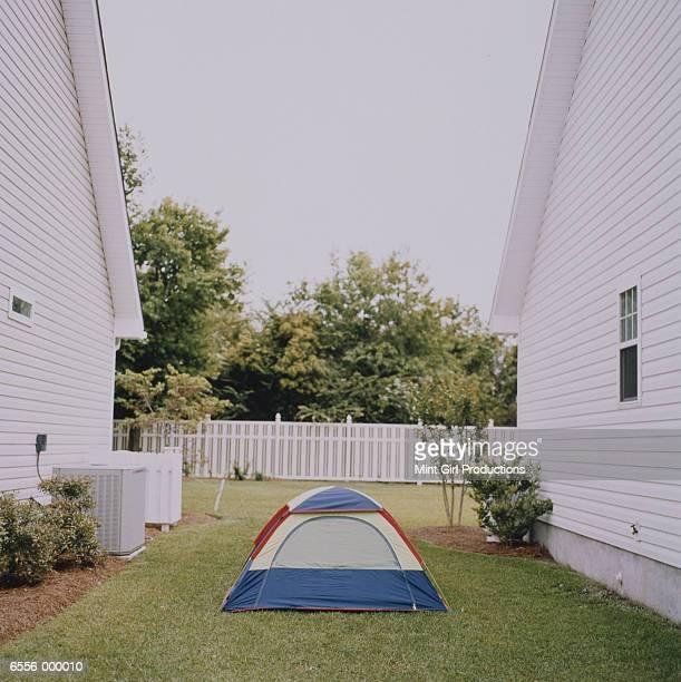 Tent Between Houses