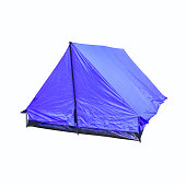 tent canvas blue accommodation camping relax  on white background
