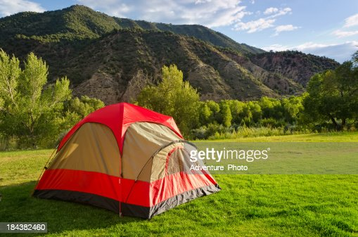 Tent Camping In Backyard : Tent in Backyard Summer Camping