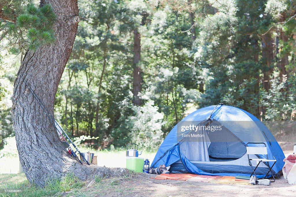 Tent in campsite : Stock Photo
