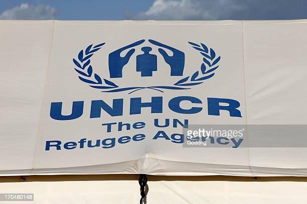 Tent in Choucha refugee camp Ras Jedir Tunisia