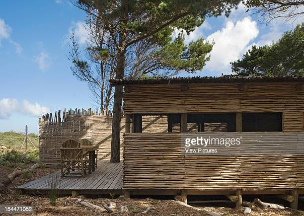 Tented Camp Smitswinkel Bay Makeka Design Lab Table Mountain National Park South Africa Detailed View Of Hut Facade Balcony And Conifers Makeka...