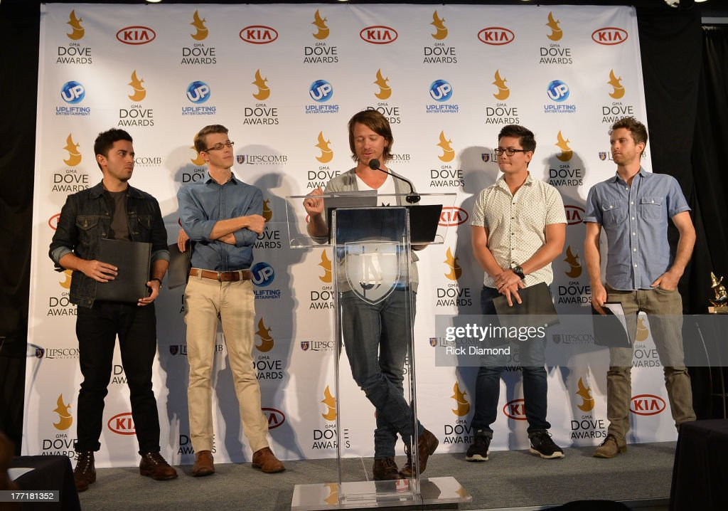 Tenth Avenue North announces nominations for The 44th Annual GMA Dove Awards Nominations Press Conference at Allen Arena, Lipscomb University on August 21, 2013 in Nashville, Tennessee.