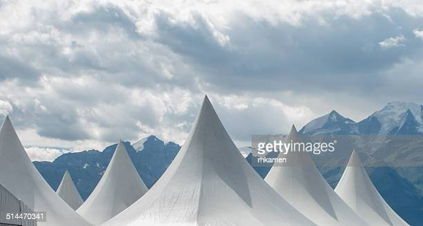 Tents and mountains, Verbier, Switzerland