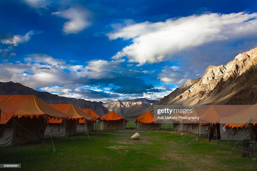 Tents at Himalaya : Stock Photo