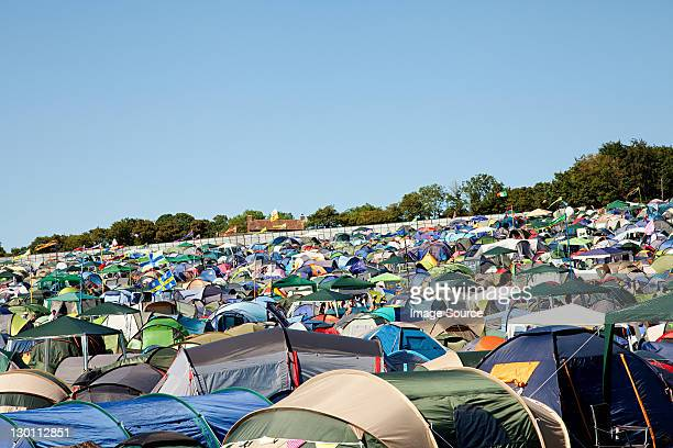 Tents at summer music festival