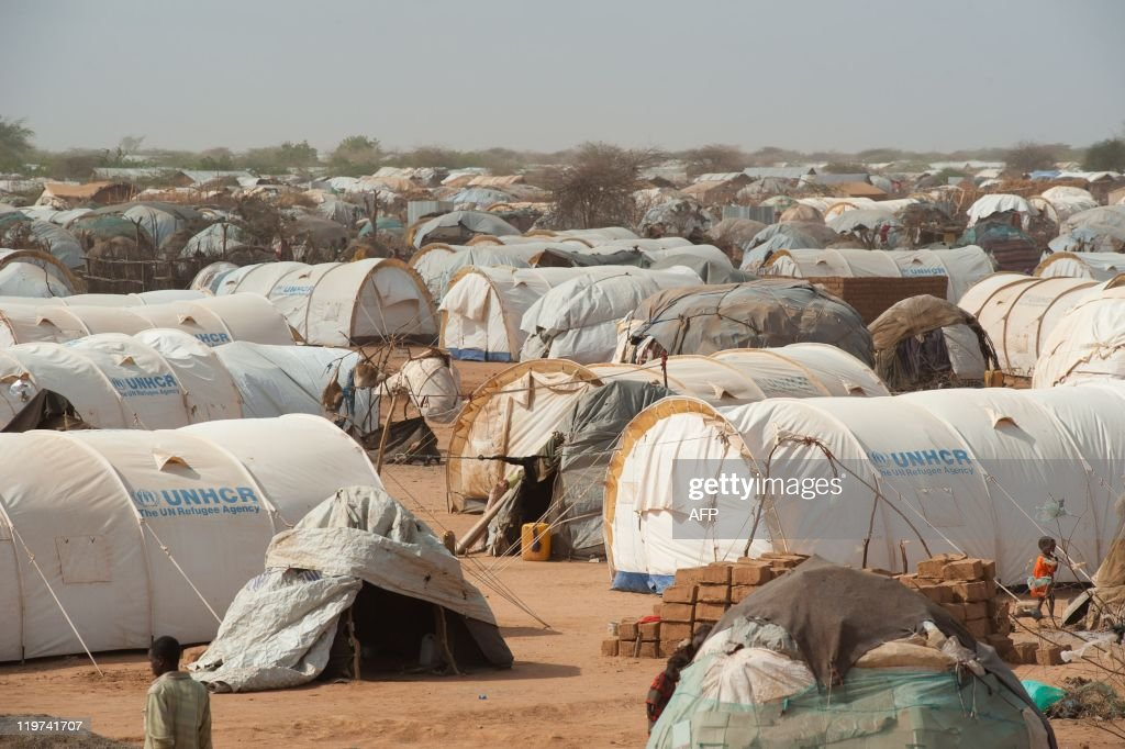 Tents fill the outskirts of Dagahaley refugee camp in Kenya's Dadaab refugee complex on July 24 2011 The United Nations refugee agency estimates...