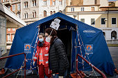 ITA: Tents For Triage Of Coronavirus Patients In Trieste