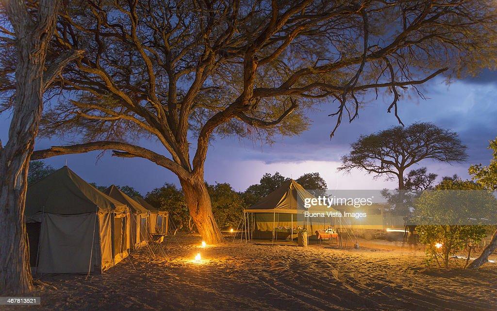 Tents in a Safari Camp