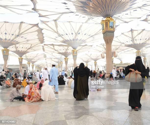 Tents of the Prophet's Mosque, Medina, Saudi Arabia.