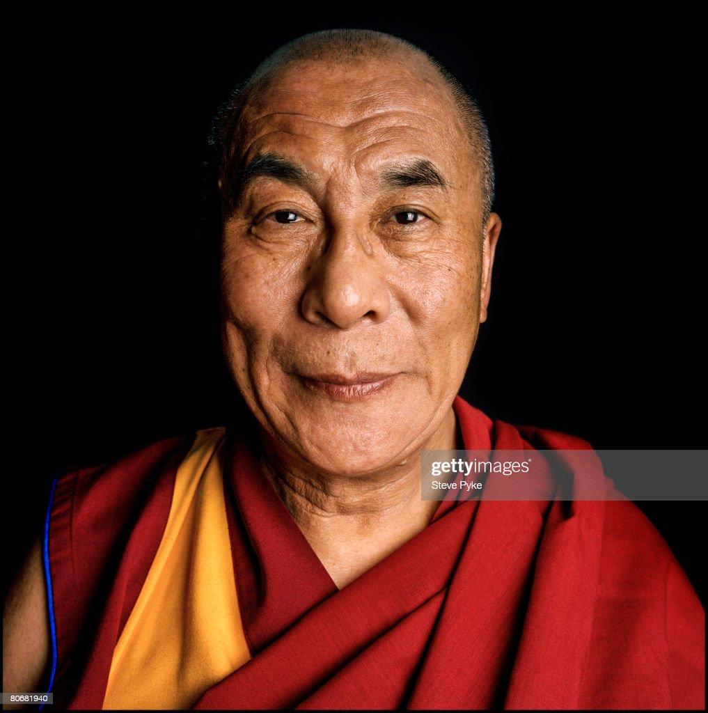 Tenzin Gyatso, the 14th Dalai Lama, circa 1996.