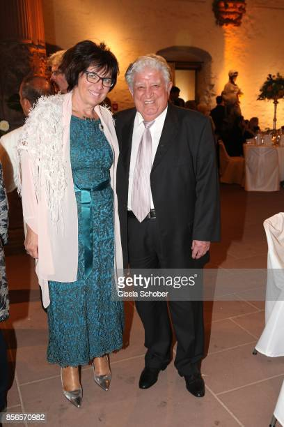 Teo Atalay father of Erdogan and his wife Theresia during the church wedding of Erdogan Atalay and Katja Ohneck at Heidelberg Castle on September 30...