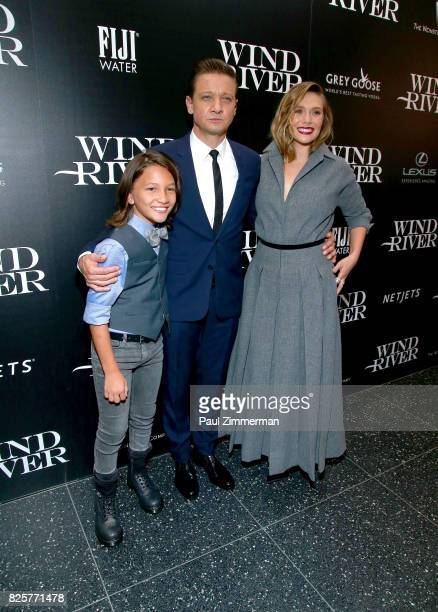 Teo Briones Jeremy Renner and Elizabeth Olsen attend The Weinstein Company With FIJI Grey Goose Lexus And NetJets Host A Screening Of 'Wind River'...