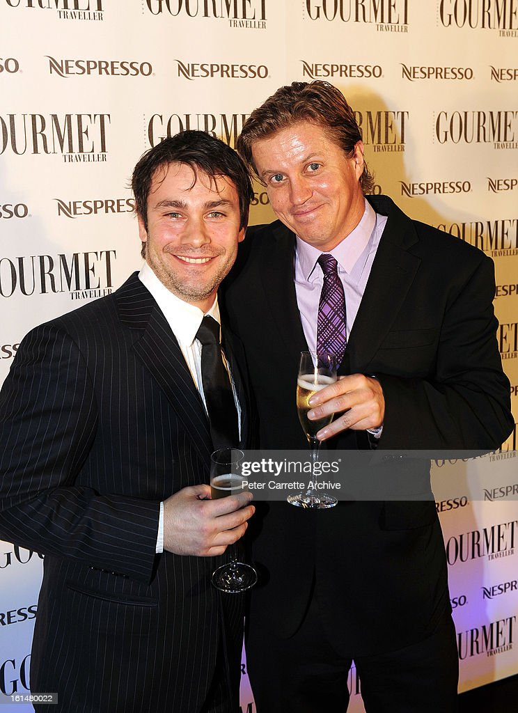 Teo Gebert and Dan Wyllie arrive for the third annual Gourmet Traveller Travel Awards at the Sydney Opera House on May 27, 2009 in Sydney, Australia.