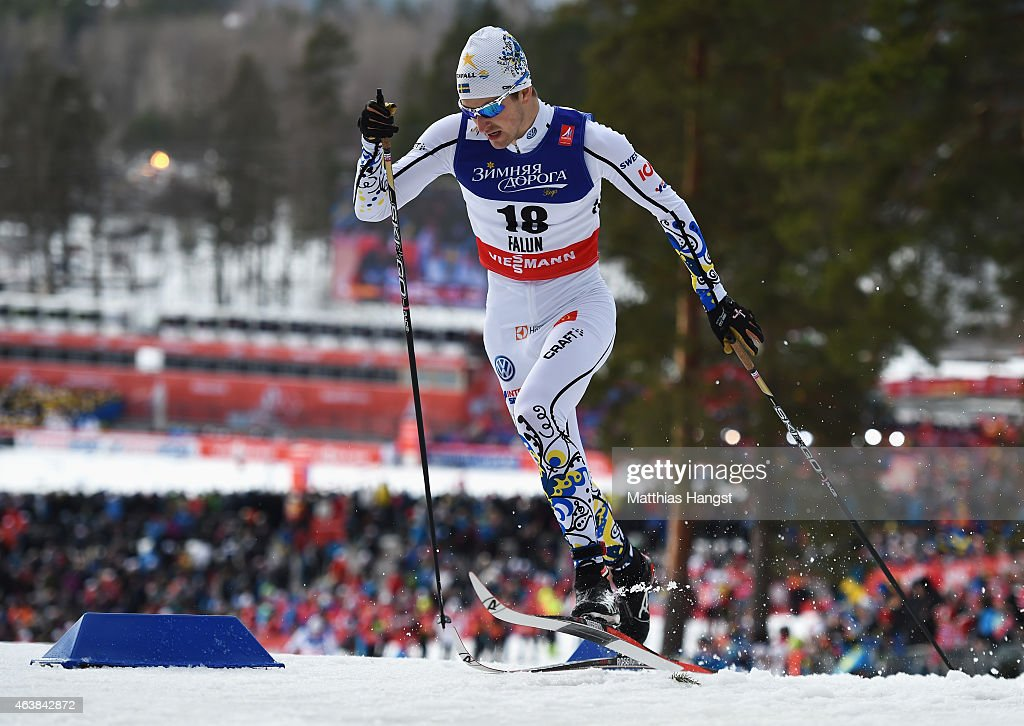 <a gi-track='captionPersonalityLinkClicked' href=/galleries/search?phrase=Teodor+Peterson&family=editorial&specificpeople=6567370 ng-click='$event.stopPropagation()'>Teodor Peterson</a> of Sweden competes during the Men's Cross-Country Sprint Qualification during the FIS Nordic World Ski Championships at the Lugnet venue on February 19, 2015 in Falun, Sweden.