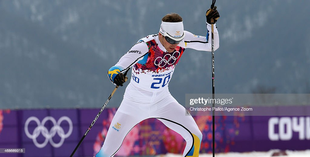 <a gi-track='captionPersonalityLinkClicked' href=/galleries/search?phrase=Teodor+Peterson&family=editorial&specificpeople=6567370 ng-click='$event.stopPropagation()'>Teodor Peterson</a> of Sweden wins the silver medal during the Cross-Country Men's & Women's Sprint at the Laura Cross-country Ski & Biathlon Center on February 11, 2014 in Sochi, Russia.
