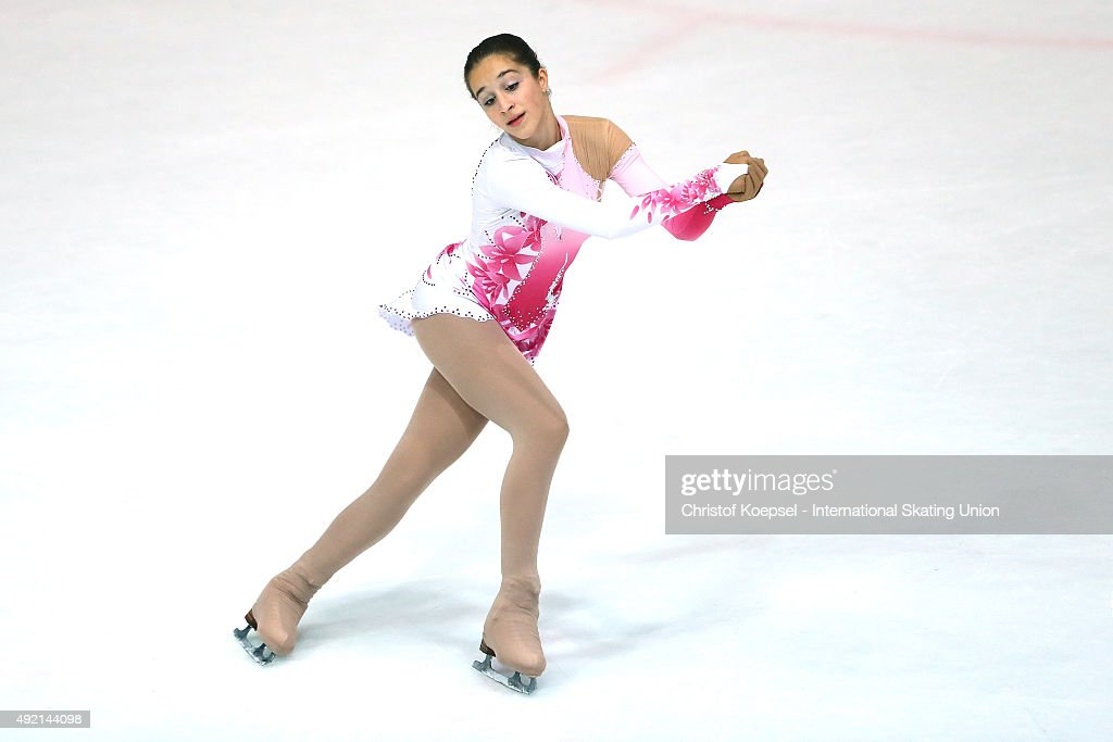 Teodora Markova of Bulgaria skates during the junior ladies free skating of the ISU Junior Grand Prix at Dom Sportova on October 10 2015 in Zagreb...