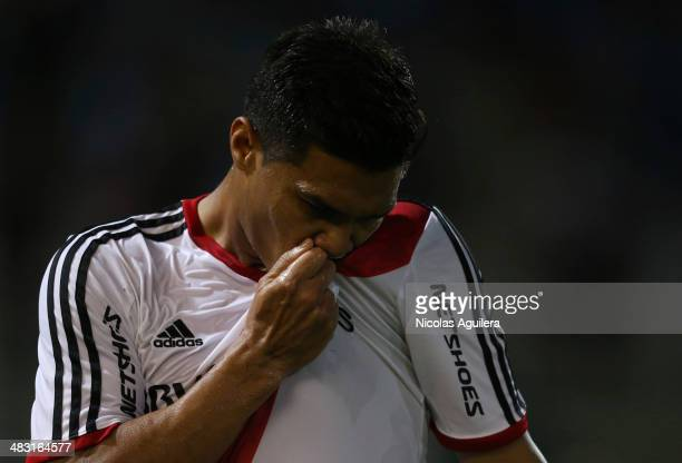 Teo—filo GutieŽrrez of River Plate celebrates a scored goal during a match between Belgrano and River Plate as part of 12th round of Torneo Final...