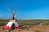 tepee, transfer dwelling of North American Indians, conical tent, traditionally made of animal skins upon wooden poles