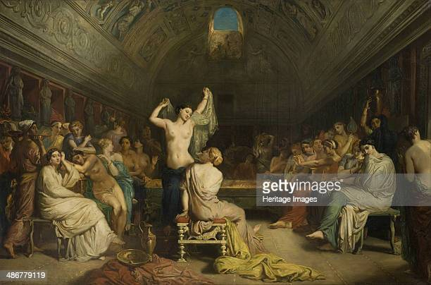 Tepidarium the room where the women of Pompeii came to rest and dry themselves after bathing 185 Artist Chassériau Théodore