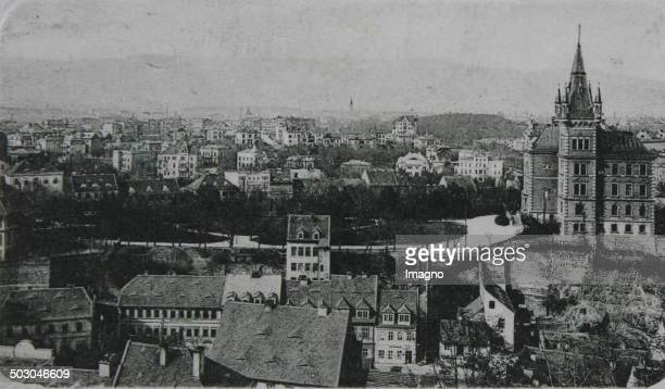 Teplice View from the king's height 1912 Photograph
