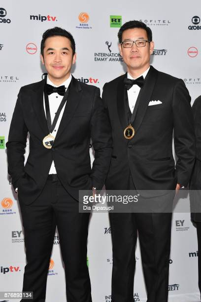 Tepparit and Dhanasak Hoonarak of Super Fan attends the 45th International Emmy Awards at New York Hilton on November 20 2017 in New York City
