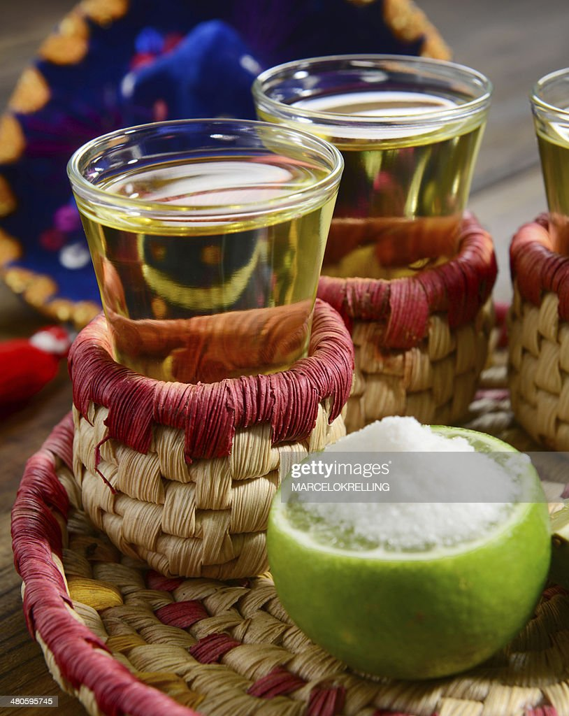 Tequila shoots : Stock Photo