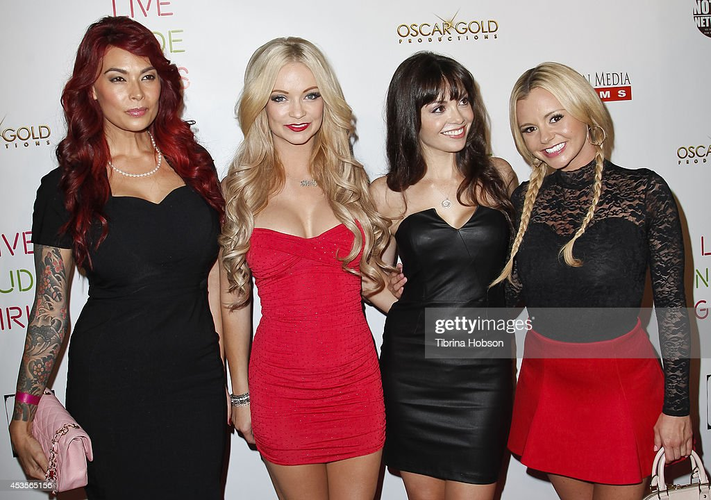 Tera Patrick; Mindy Robinson; Annemarie Pazmino and Bree Olson attend the 'Live Nude Girls' premiere at Avalon on August 12, 2014 in Hollywood, California.