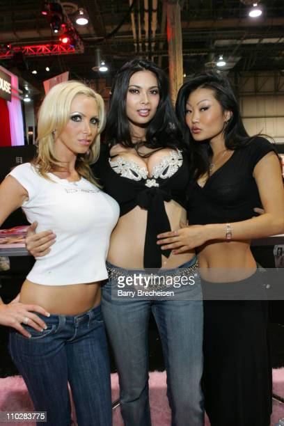 Teravision's Nikki Benz Tera Patrick Lucy Lee during 2006 AVN Adult Entertainment Expo at Sand Expo Center in Las Vegas Nevada United States