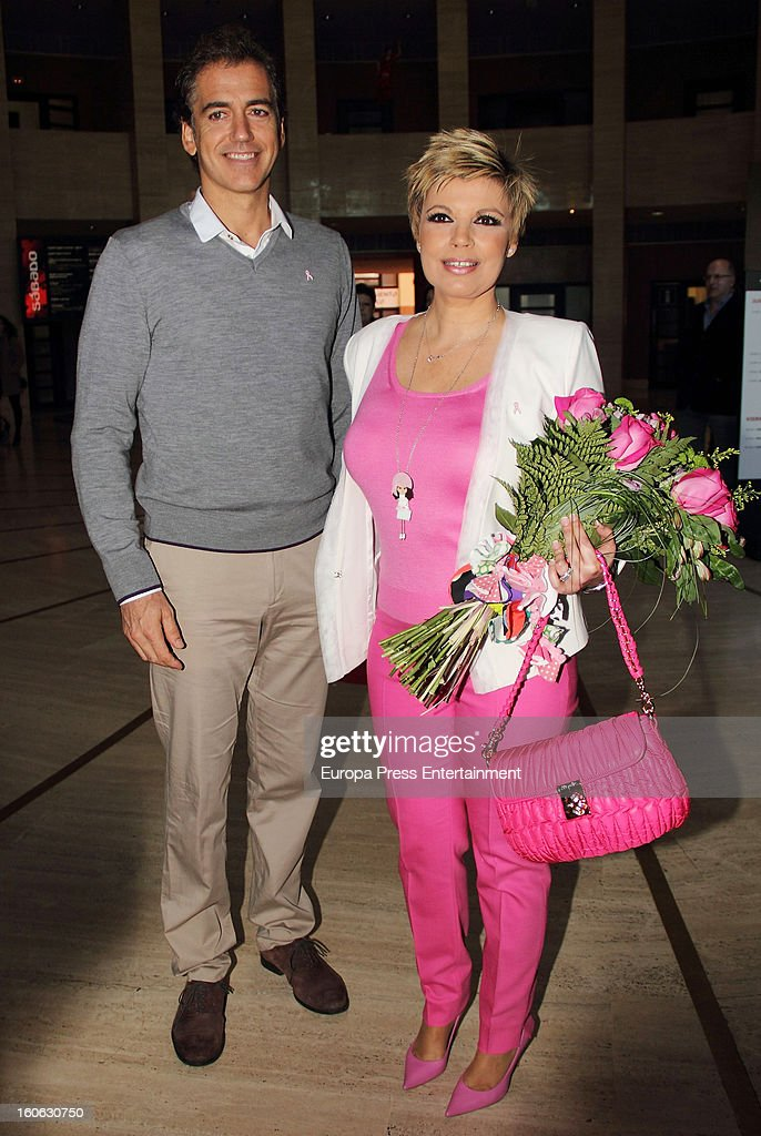 Terelu Campos and Carlos Pombo attend International Flamenco Fashion Show 'SIMOF' on February 2, 2013 in Seville, Spain.