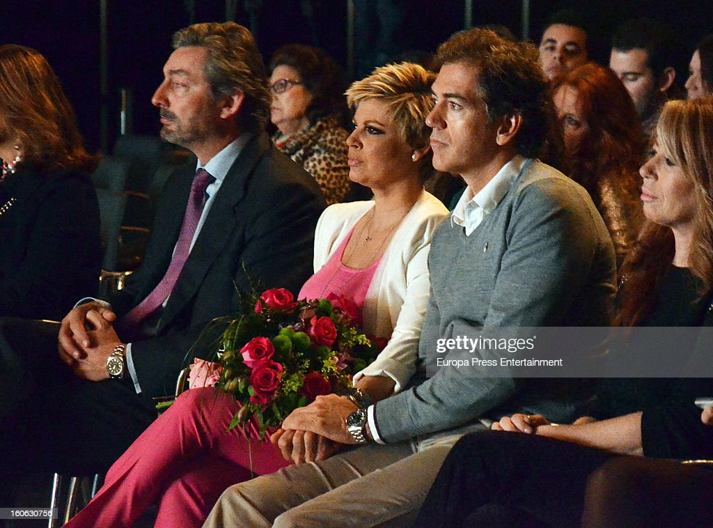 Terelu Campos (3R) and Carlos Pombo (2R) attend International Flamenco Fashion Show 'SIMOF' on February 2, 2013 in Seville, Spain.