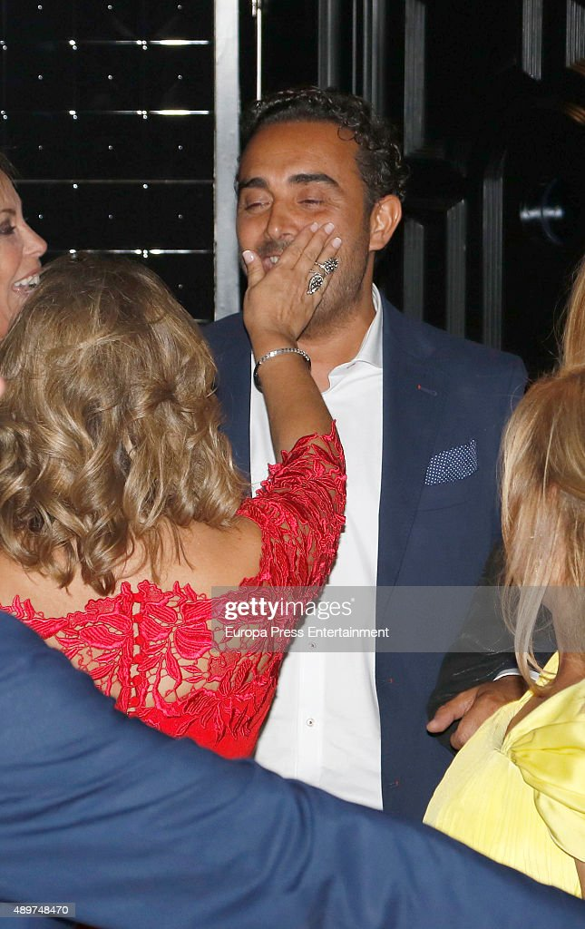 Terelu Campos and Fidel Albiac attend Terelu's 50th birthday party on September 23 2015 in Madrid Spain