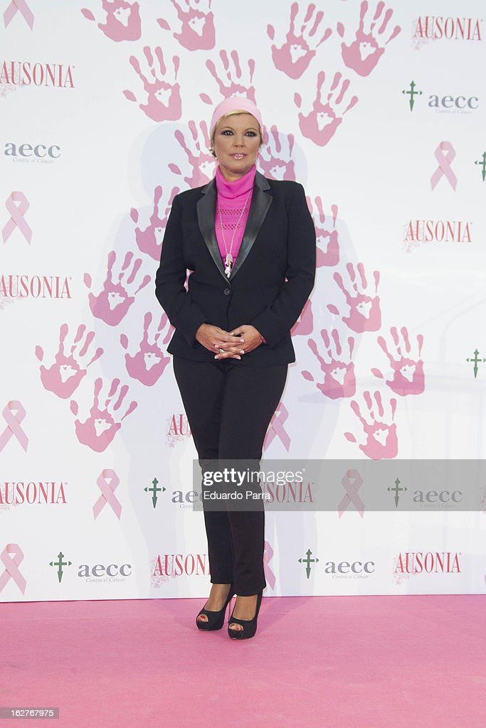 Terelu Campos attends 'Juntos Somos Mas Fuertes' campaign photocall against breast cancer on February 26, 2013 in Madrid, Spain.