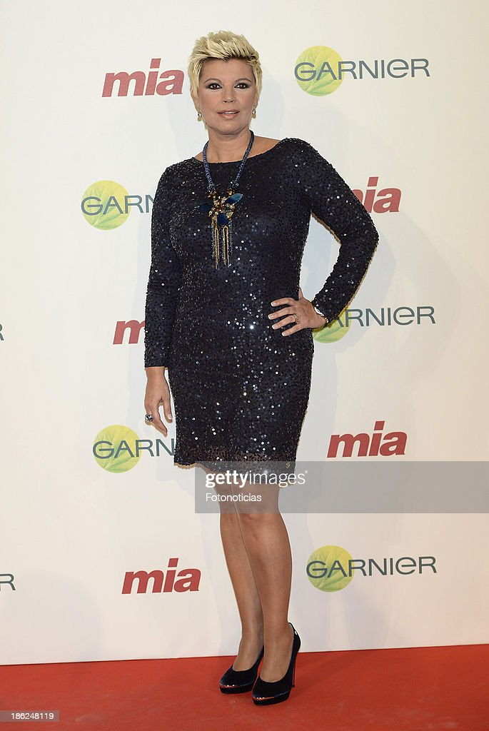 Terelu Campos attends Mia magazine 'Cuida de Ti' 2013 Awards at Calderon theater on October 29, 2013 in Madrid, Spain.