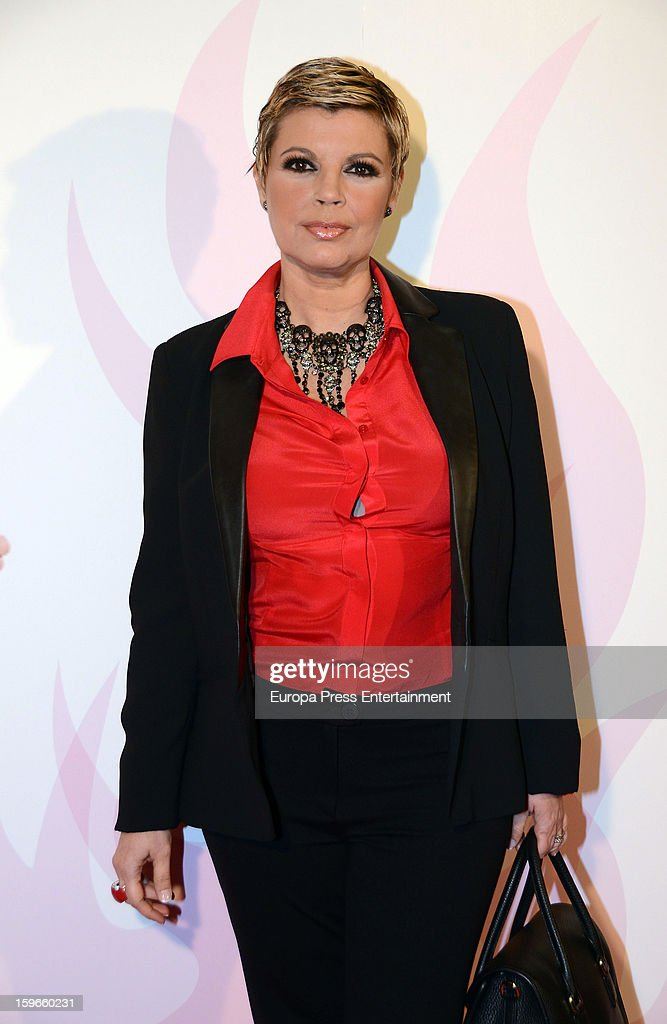 Terelu Campos attends 'Sofocos' theatre play premiere at Nuevo Apolo Theatre on January 17, 2013 in Madrid, Spain.