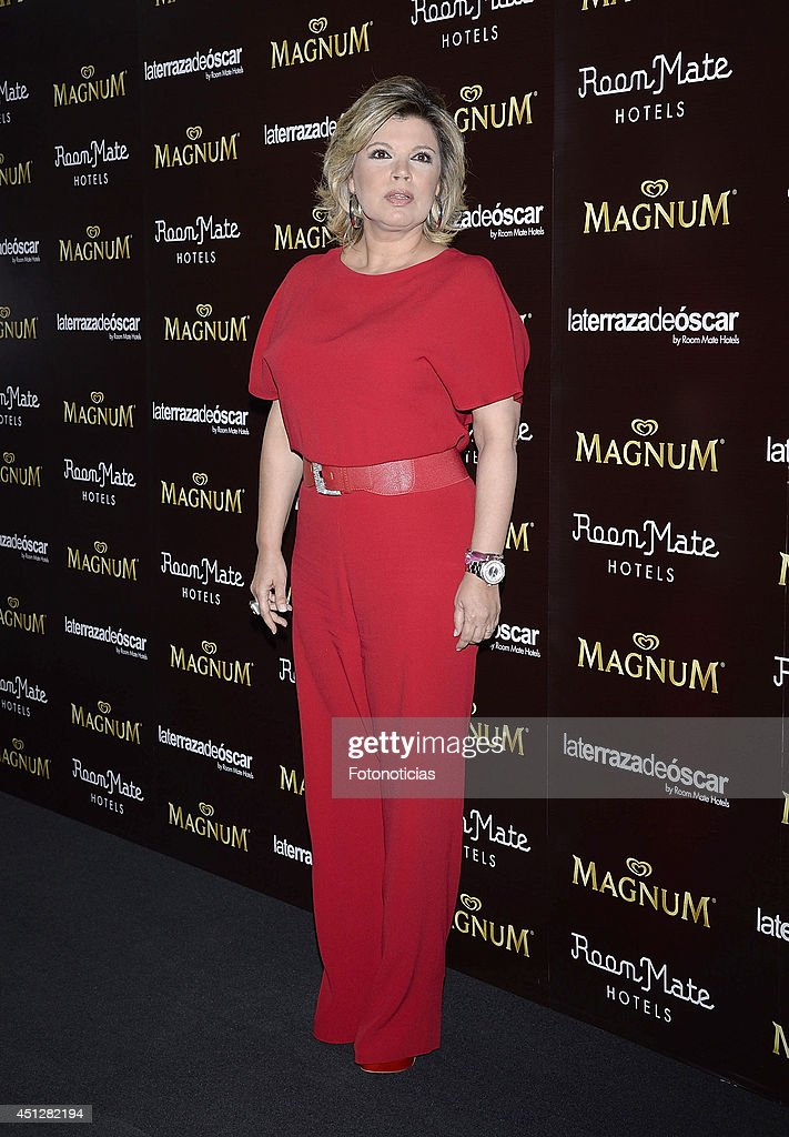Terelu Campos attends the 'Chocolate Opening Party By Magnum' at the Room Mate Oscar Hotel on June 26, 2014 in Madrid, Spain.