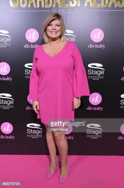 Terelu Campos attends the 'El Guardaespaldas' musical premiere at the Coliseum Theater on September 28 2017 in Madrid Spain