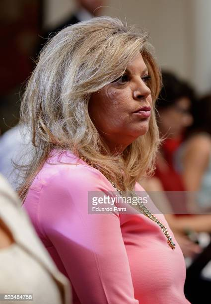 Terelu Campos attends the 'Medals to Merit in Work' delivery at Moncloa palace July 27 2017 in Madrid Spain