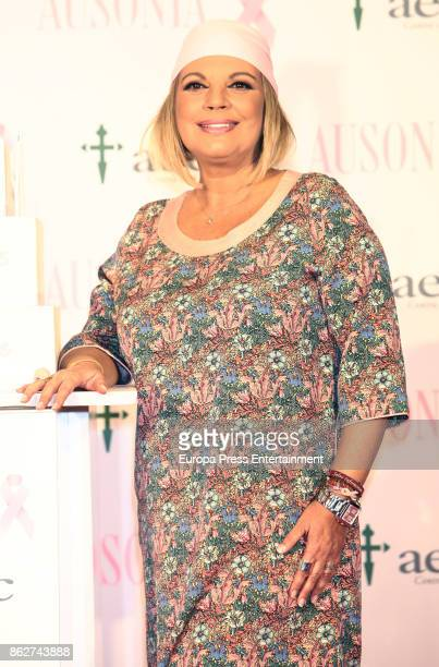 Terelu Campos attends the presentation of Ausonia and AECC Against Breast Cancer campaign 'Juntas somos mas fuertes' on October 17 2017 in Madrid...