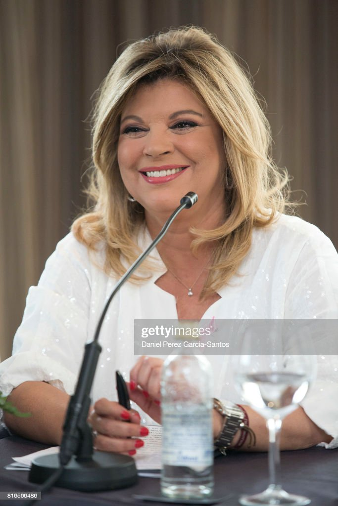 Terelu Campos attends the presentation of her autobiography book 'Frente Al Espejo' at Hotel Malaga Palacio on July 17, 2017 in Malaga, Spain.