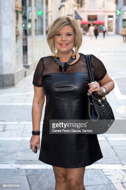 Terelu Campos is seen on October 20 2017 in Malaga Spain