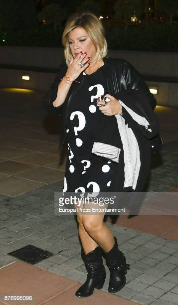Terelu Campos is seen on October 25 2017 in Madrid Spain