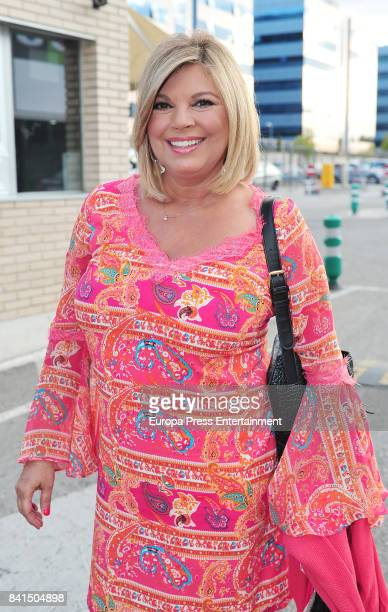 Terelu Campos is seen the day of her 52th birthday on August 31 2017 in Madrid Spain