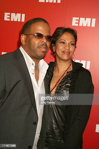Terence Blanchard and wife Robin Burgess during 2007 EMI Post GRAMMY Party Arrivals at BOULEVARD 3 in Hollywood California United States