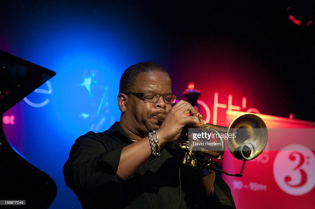 <a gi-track='captionPersonalityLinkClicked' href=/galleries/search?phrase=Terence+Blanchard&family=editorial&specificpeople=3210514 ng-click='$event.stopPropagation()'>Terence Blanchard</a> performs on stage at Ronnie Scotts for the London Jazz Festival Jazz on 3 Special on November 9, 2012 in London, United Kingdom.