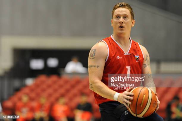 Terence Bywate of Great Britain in action during the Wheelchair Basketball World Challenge Cup final between Australia and Great Britain at the Tokyo...