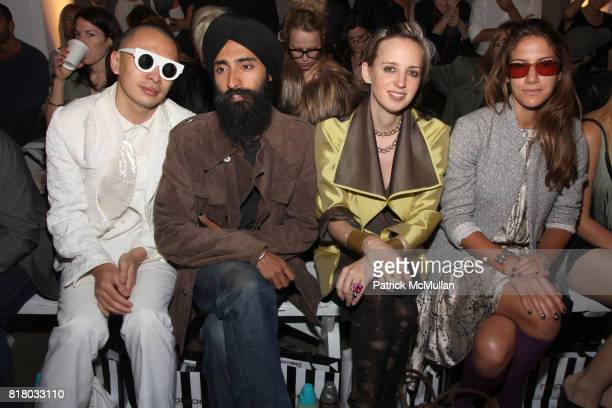 Terence Koh Waris Ahluwalia Hope Atherton and Minnie Mortimer attend ELISE OVERLAND Spring 2011 Fashion Show at 475 10th Ave on September 12 2010 in...
