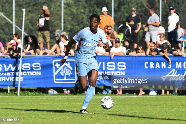 Terence Kongolo during the friendly match between As Monaco and PSV Eindhoven on July 16 2017 in Le Chable Switzerland