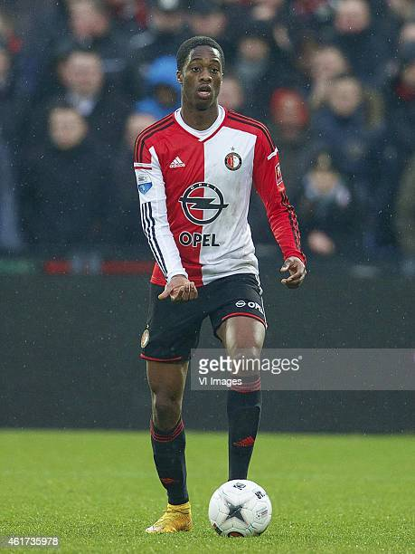 Terence Kongolo of Feyenoord during the Dutch Eredivisie match between Feyenoord and FC Twente at the Kuip on January 18 2015 in Rotterdam The...