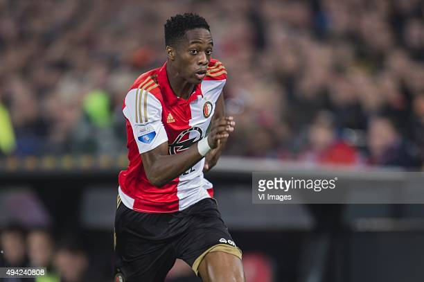 Terence Kongolo of Feyenoord during the Dutch Eredivisie match between Feyenoord rotterdam and AZ Alkmaar at the Kuip on October 25 2015 in Rotterdam...
